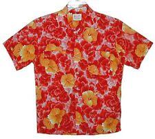 Sz M Vin 60s Polynesian Hawaiian Aloha Shirt Cotton Everglaze Minicare 2 Pocket