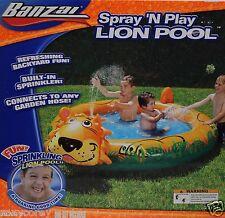 Banzai Sprinkling Spray 'N Play Lion Pool Refreshing Backyard Fun 77x61 Age 2+