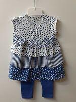 vêtement ensemble bebe 6 mois fille 2 pièces pantalon robe