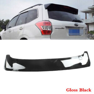 Fit Fo SUBARU Forester 2014-2018 Black Rear Tailgate Roof Top Spoiler ABS Wing