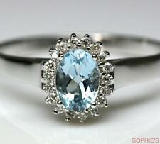 Aquamarine White Gold 18k Engagement Rings