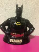 [Very Rare] Batman Piggy Coin Bank Ceramic Vintage around 1989 from Japan F/S