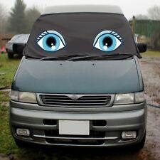 Mazda Bongo Window Screen Cover Wrap Black Blind Camper Van Eyes Lashes Blue