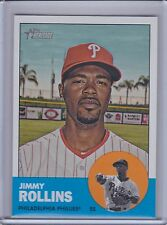 JIMMY ROLLINS 2012 Topps Heritage SP #455 (B7432)