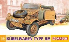 "Dragon 1/6 Scale 12"" WWII German Kubelwagen Model Kit 75003"