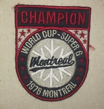 World Cup Super-G Champion Patch - Montreal 1976  Canada