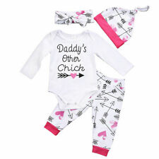 Newborn Baby Girls Boys KidsTop Pant Tracksuit Autumn Winter Cotton Clothes Sets