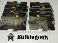 Dungeons & Dragons Legend of Drizzt Game 8 Volcanic Vent Cavern Tiles Only
