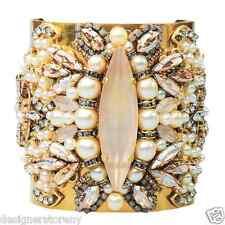 Erickson Beamon Stratosphere Pearl gold crystal cuff bracelet