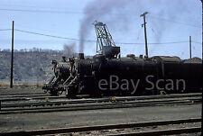 Original Slide - B&O 4411 2-8-2 5043 4-6-2 Benwood WV 1956 Kodachrome