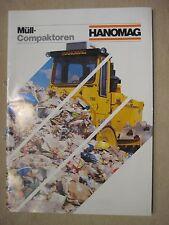 HANOMAG AG, Hannover, Müll-Compaktoren, Prospekte aus den 1980 Jahren