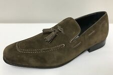 Ex Marks & Spencers Mens Collezione Khaki Suede Tassel SlipOn Loafers Shoes UK 6