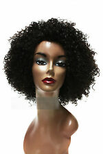 Synthetic Bohemian Tight Curl Afro Jerry Kinky Hair Style Half La Jay Wig