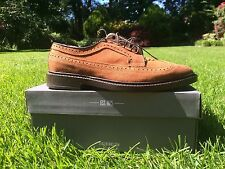 Allen Edmonds Schanutal Brown Tan Suede Wingtip Oxfords Men's 9 D $345 New 5603