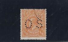 1928 Australia KGV 1/2d orange OS perfin. SG 097 P 13 fu