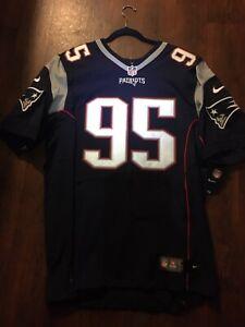 Patriots Chris Long jersey Authentic Nike Vapor Elite Size 48