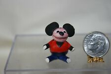 Miniature Dollhouse Vintage Dressed Mouse Childs Toy Doll 1:12 NR