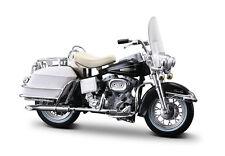 Harley-Davidson 1968 FLH Electra Glide  schwarz Weiß Maßstab 1:18 von maisto