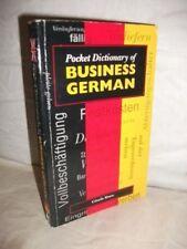 Pocket Dictionary Business German (Pocket dictionaries),Crispin Geoghegan