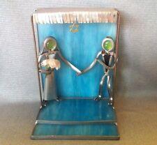 Jewish Wedding Chuppah,StainGlass handmade Rabbi Bride & Groom, Judaica GIft