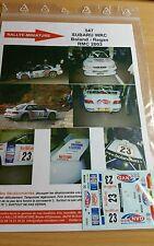 DECALS 1/24 REF 547 SUBARU IMPREZA WRC BOLAND RALLYE MONTE CARLO 2003 RALLY
