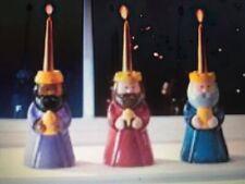 Three 3 Wise Men Ceramic Christmas Candle Holders We Three Kings Magi Avon