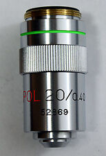 20X POLARISING/BRIGHTFIELD MICROSCOPE OBJECTIVE, RARE (ID206)