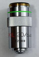 20X POLARISING/BRIGHTFIELD MICROSCOPE OBJECTIVE, RARE (ID206)