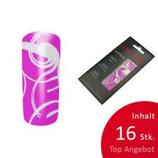 16 St. selbstklebende Nagelfolie Pink Tribal Nailart Sticker Fullcover Foil