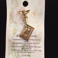 ANGEL BOOK  OF LOVE GUARDIAN ANGEL PIN FOR ALL WITH A THOUGHTFUL MESSAGE