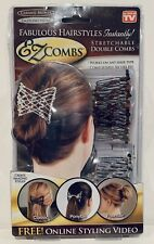 EzCombs Stretchable Double Hair Style Combs Bead Silver Bronze As Seen On TV NEW