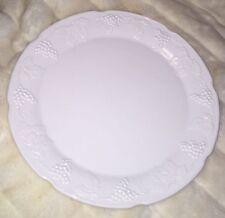 "VINTAGE Colony Harvest MILK GLASS 14"" Torte Plate/Platter WITH GRAPE VINES"