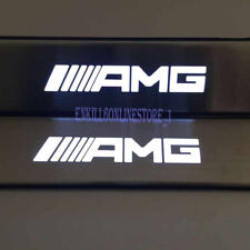 White LED Light Door Sill Scuff Plate Guard fit Mercedes-Benz AMG W210 W211 W212
