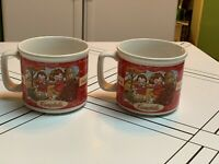 1998 Campbell's Kids Soup Mugs / Bowls ~ Set of 2 ~ Fall & Winter Scenes~Vintage