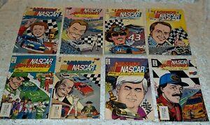 The Legends of Nascar & Adventures of Nascar Vortex Comic Books 1990 Lot of 8