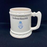 Sorority Stein Coffee Mug 1958 Clio Dinner Dance Vintage
