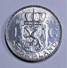 Niederlande - 1 Gulden 1965 SILBER - Königin Juliana - vz-st / xf-unc.