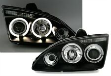 2 PHARE AVANT ANGEL EYES FORD FOCUS 2 2004-2008 1.6 1.8 2.0 2.5 LED NOIR FEUX