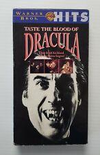 Taste the Blood of Dracula VHS 1998 Hammer Horror Christopher Lee Vampire HTF