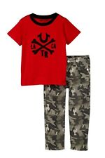Infant boy's True Religion Crossbone Tee & Geno Camo Jeans Pants Size 12 Months