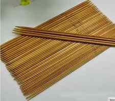 55Pcs 11Sizes 25cm Double Pointed Carbonized Bamboo Knitting Needles Weave Knit