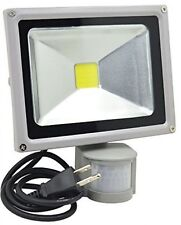 GLW Led Motion Sensor Flood Light, 20W 1500lm PIR Outdoor Waterproof Security
