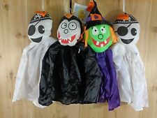 "Halloween Hanging Decoration Set of 4 WITCH DRACULA GHOST PIRATE 20"" Floating"