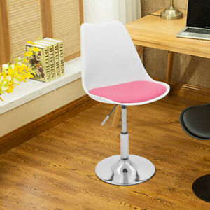 Cushioned Chair Swivel Adjustable Computer Desk Table Office Dining Stool Pink