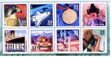 US STAMP Collection  Setenant MINT Block TITANIC, CELL PHONE & other  1990s