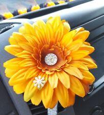VW GERBERA 13cm Pale Orange FLOWER, GEM CENTRE & SNOWFLAKE VW BEETLE  DASHBOARD