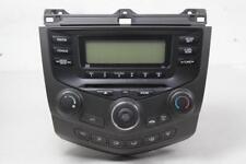 03-07 Honda Accord LX Radio Single CD Player Climate Control 39050SDAA010M1