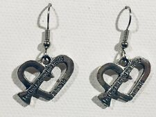 Surgical Hook New Nail Cross Bible For God So Loved The World Earrings