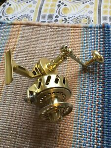 Van Staal gold bailess surf casting reel.  Early model?