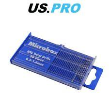 US PRO 20 Pezzo Microbox Set Punte Trapano HSS 0.3 - 1.6 mm 2409
